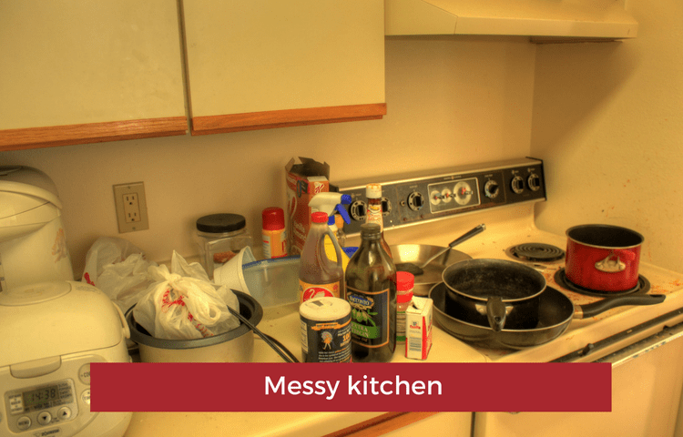 image of messy kitchen