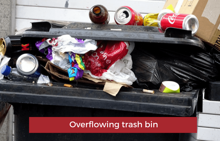 image of overflowing trash bin