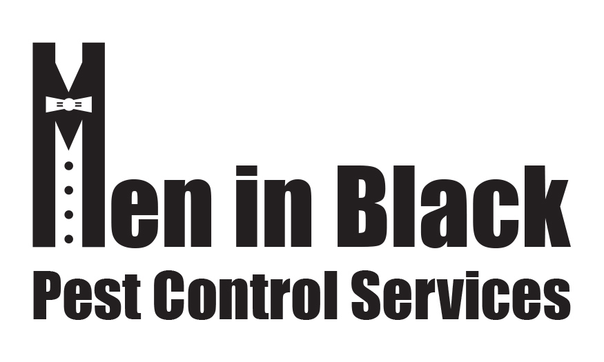men in black pest control services logo
